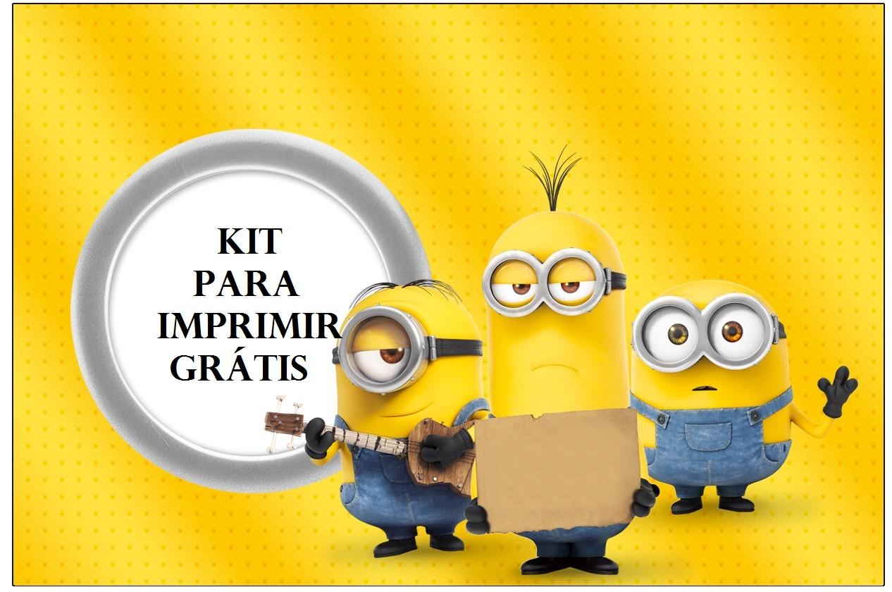 Minions Kit Para Imprimir Gratis